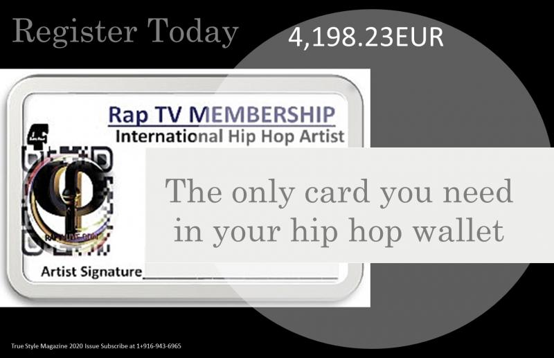 RapTV Artist Card Ad contact membership@raptvlive.com for details