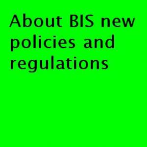 About BIS news policies regulations